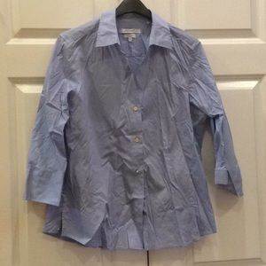 Women's Focxcroft Button Down Shirt Blue Large